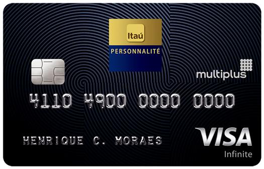 CC MinhaSalaVIP VISA ItauPersonalite Multiplus - Riscamos um cartão da nossa lista