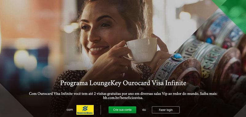 ourocard loungekey dica - Visa Infinite Banco do Brasil dá direito a duas visitas a salas Loungekey