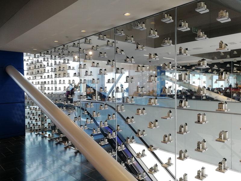 AMS KLMCrown DetalheCasinhas - AMS | Novo KLM Crown Lounge Non-Schengen no Aeroporto Schiphol de Amsterdam