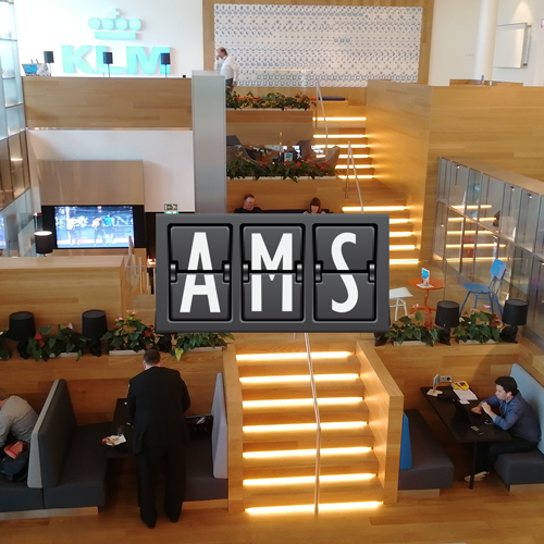 AMS KLMCrown MinhaSalaVIP - AMS | Novo KLM Crown Lounge Non-Schengen no Aeroporto Schiphol de Amsterdam