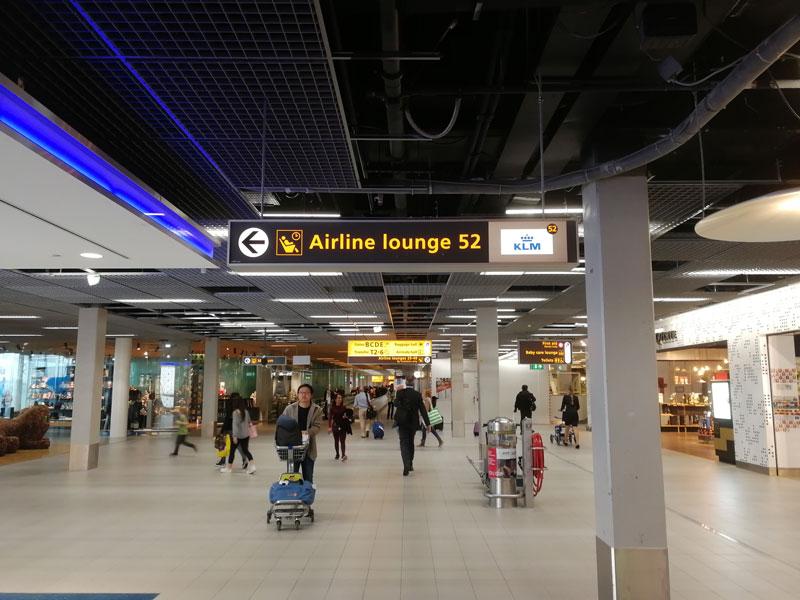 AMS KLMCrown Sinalizacao - AMS | Novo KLM Crown Lounge Non-Schengen no Aeroporto Schiphol de Amsterdam