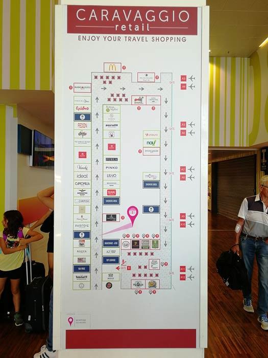 BGY VIPLounge mapa - BGY - Gate VIP Lounge SACBO no Aeroporto Caravaggio em Bergamo (Milão)