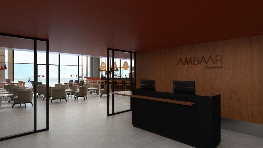 CNF AmbaarDom Recepcao - CNF | Imagens exclusivas do Ambaar Lounge Doméstico em Confins