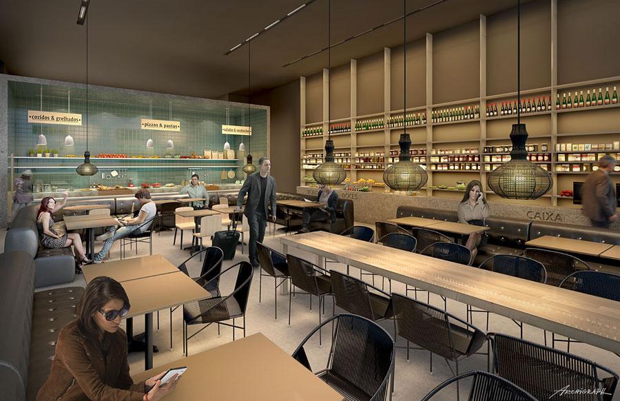 CNF AmbaarInt Restaurante - Exclusivo | Divulgadas as primeiras imagens do Ambaar Lounge Internacional em Confins