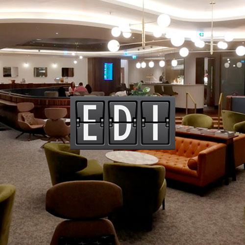 No1 Lounge Sala VIP no Aeroporto de Edinburgh Edimburgo na Escócia Reino Unido