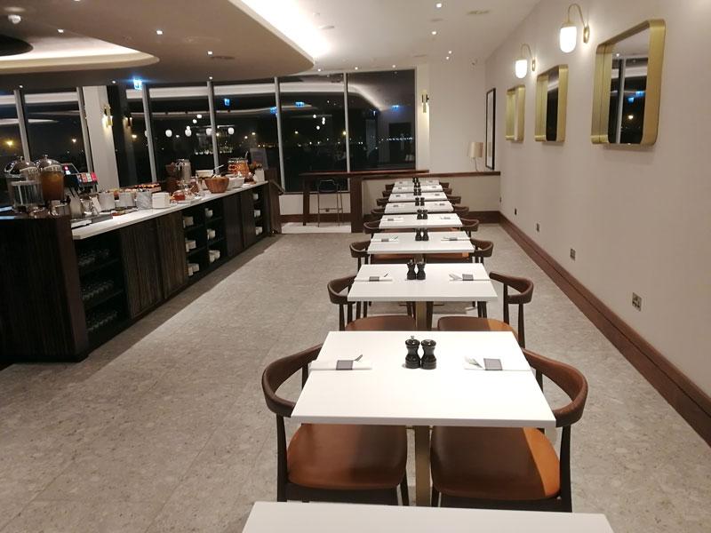 EDI no1lounge alimentacao - EDI | Novo No1 Lounge no Aeroporto de Edinburgh na Escócia