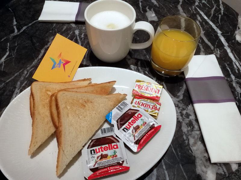 EDI no1lounge breakfast - EDI | Novo No1 Lounge no Aeroporto de Edinburgh na Escócia