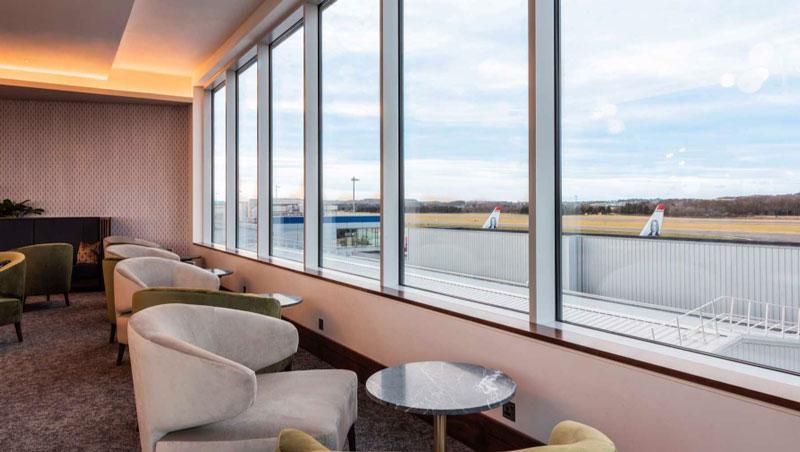EDI no1lounge vista - EDI | Novo No1 Lounge no Aeroporto de Edinburgh na Escócia