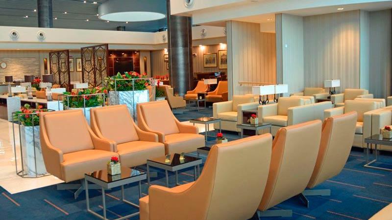 FCO EmiratesLoungeFCO Lounge - FCO | Emirates inaugura lounge no Aeroporto Fiumicino em Roma