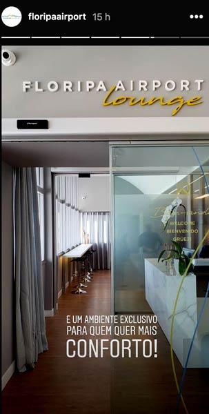 FLN Lounge Lancamento - FLN   Floripa Airport Lounge já está em funcionamento