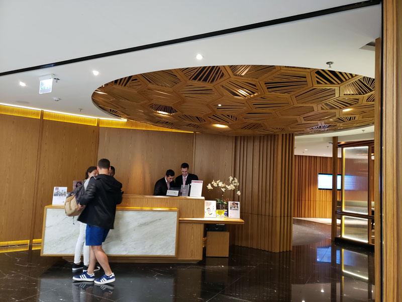 GIG PlazaINTL Recepcao - GIG | Plaza Premium Lounge Internacional no Aeroporto RIOGaleão