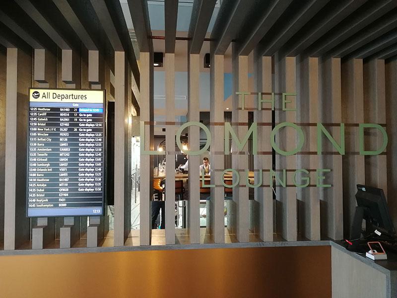 GLA LomondLounge Recepcao - GLA | Lomond Lounge no Aeroporto de Glasgow