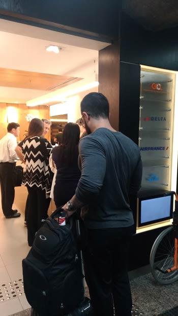 GRU GolPremiumIntl Fila - GRU | Gol Premium Lounge Terminal 2 Internacional em Guarulhos