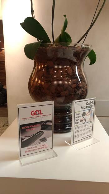 GRU GolPremiumIntl Massagem - GRU | Gol Premium Lounge Terminal 2 Internacional em Guarulhos