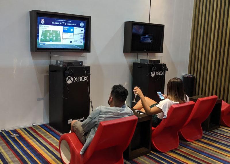 GRU Latam Xbox - GRU | Latam VIP Lounge no Aeroporto de Guarulhos