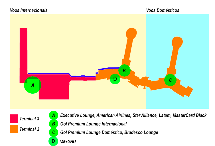 Mapa Gru MinhaSalaVIP 1 - Guia | Todas as Salas VIP do Aeroporto de Guarulhos - GRU