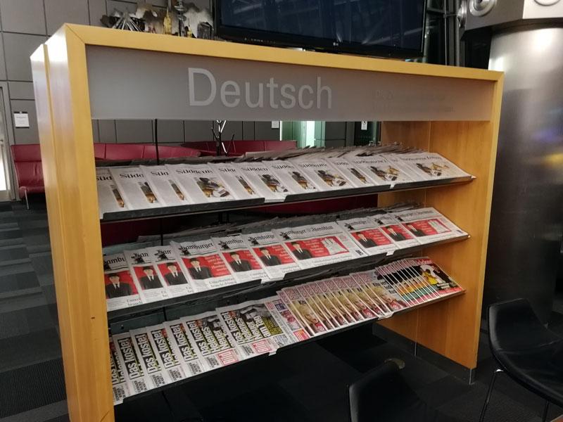 HAM 2 Jornais - HAM | Airport Lounge no Aeroporto Fuhlsbuettel em Hamburgo, na Alemanha