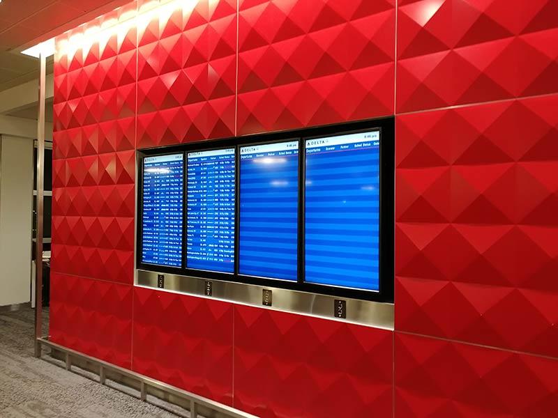 JFK DSCT4 Displays - JFK – [Atualizado] Delta Sky Club Terminal 4 Aeroporto JFK em Nova Iorque