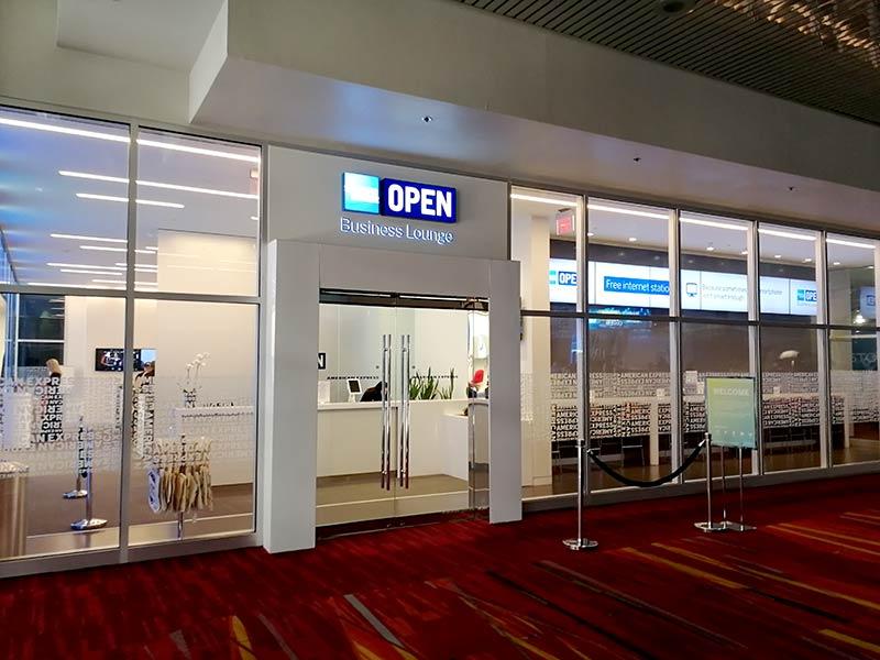 LAS LVCC Interno - American Express Business Lounge Las Vegas Convention Center