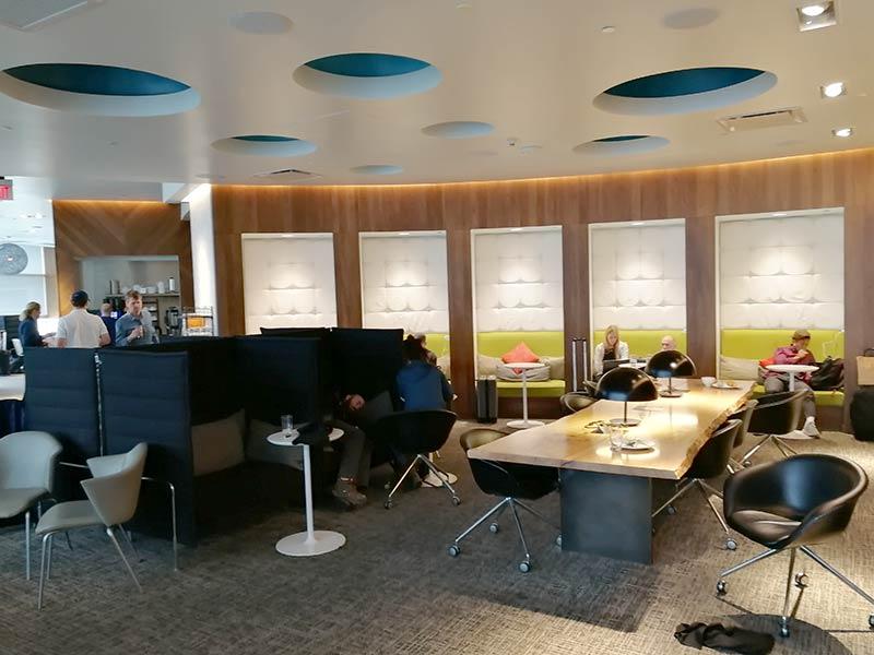 LAS Centurion Overview Fundos - LAS | American Express Centurion Lounge Las Vegas
