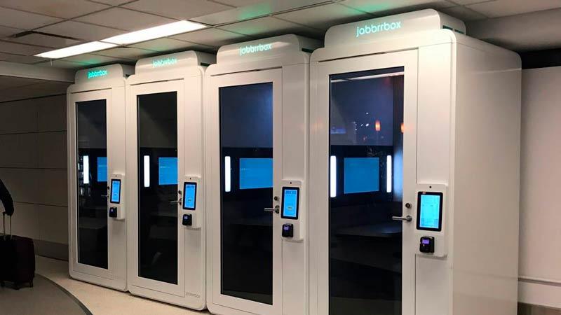 LGA Jabbrrboxes 001 - LGA | Aeroporto de Nova Iorque tem lounges individuais para quem viaja a trabalho