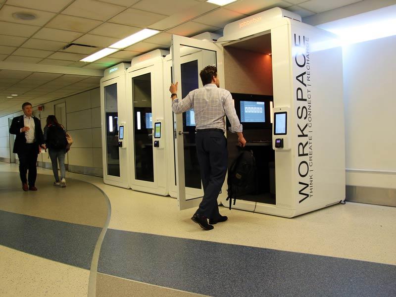 LGA Jabbrrboxes 002 - LGA | Aeroporto de Nova Iorque tem lounges individuais para quem viaja a trabalho