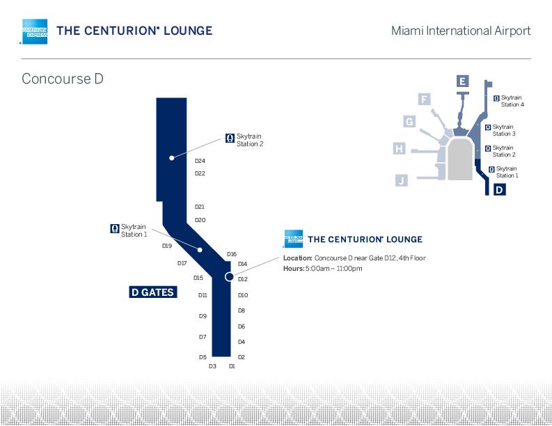 MIA CenturionMia Map - MIA | American Express reinaugura Centurion Lounge de Miami