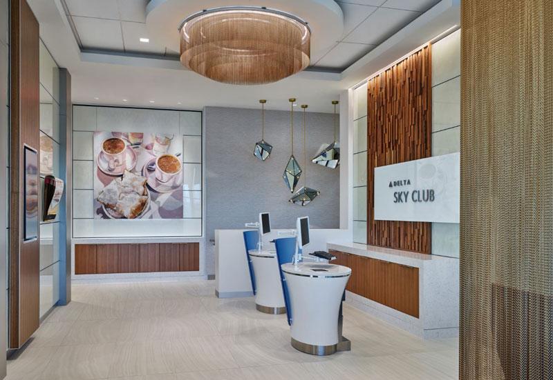 MSY NewOrleansSkyClub Recepcao - MSY | Delta inaugura novo Sky Club no Aeroporto de New Orleans