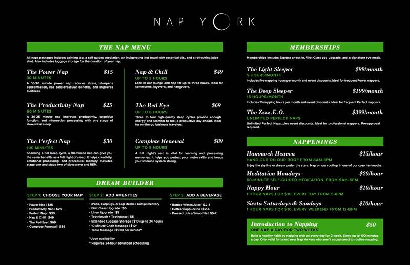NYC NapYork Pricelist - NYC | Um lounge no coração de Nova Iorque. Conheça o Nap York