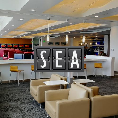 SEA DeltaS minhasalavip - SEA | Delta Sky Club Terminal S no Aeroporto Seattle Tacoma