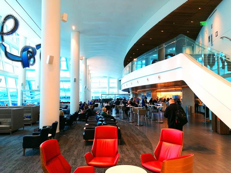 SEA DeltaSC A Entrada - SEA | Delta Sky Club Terminal A no Seattle Tacoma Airport