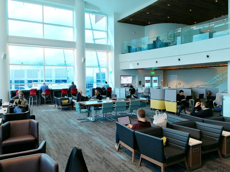 SEA DeltaSC A Overview - SEA | Delta Sky Club Terminal A no Seattle Tacoma Airport