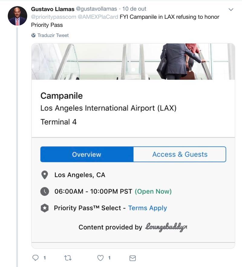 PP Reclamacoes LAX - Aumentam as reclamações por membros Priority Pass barrados em lounges