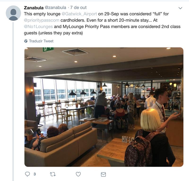 PP Reclamacoes Vazio - Aumentam as reclamações por membros Priority Pass barrados em lounges